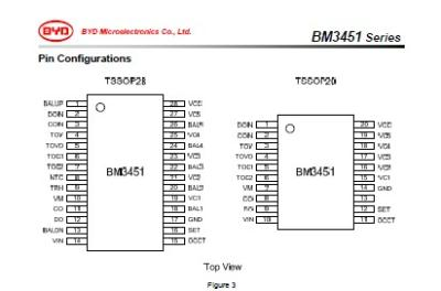 安联创科技有限公司-比亚迪(byd)锂电保护芯片-bm3452